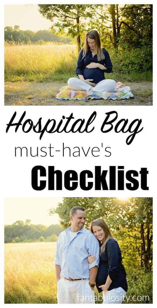 Hospital Must haves checklist for the minimalist free printable fantabulosity.com