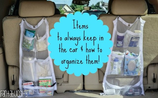Items to always keep in the car, and how to organize them, Car Organization