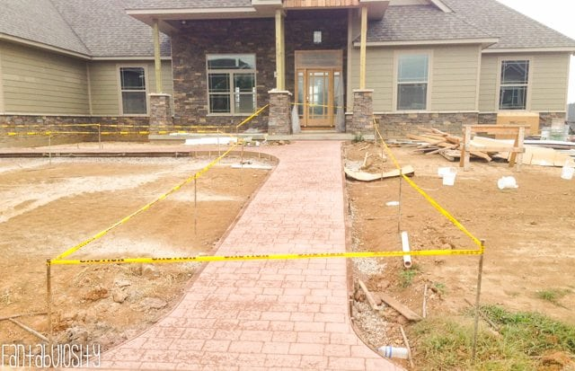 Wrapping Up Our New Home Construction Part 1 Front Sidewalk