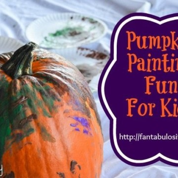 Pumpkin Painting Fun For Kids, Fall Activity For Kids, Finger Painting Pumpkins