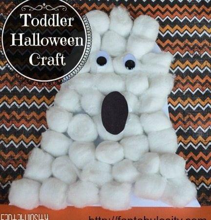Toddler Halloween Craft, Ghost Halloween Craft for Kids
