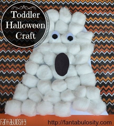 Toddler Halloween Craft, Ghost Halloween Craft for Kids