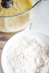 flour, baking soda, salt mixture