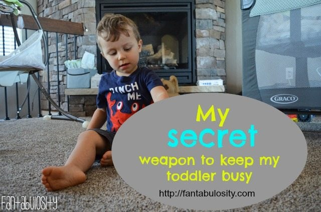 My secret weapon to keep my toddler busy