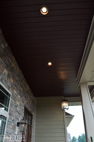Craftsman Style Home Brown Soffit, Home Tour https://fantabulosity.com
