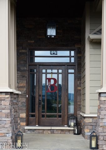 Craftsman Style Home Front Porch Entry, Home Tour https://fantabulosity.com