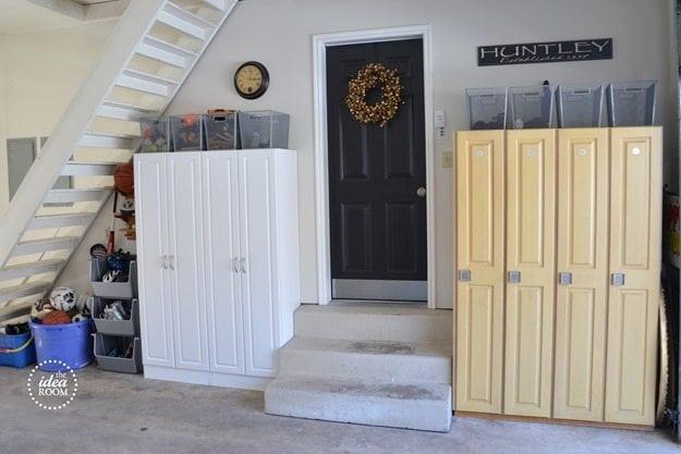 Garage Organization Ideas with lockers https://fantabulosity.com