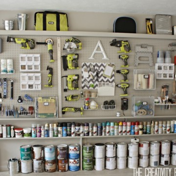 Garage Organization Ideas, Peg Board and Tools https://fantabulosity.com