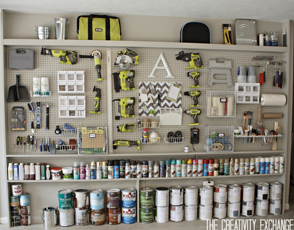 Garage Organization Ideas Peg Board And Tools Https Fantabulosity