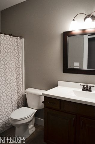 Home Tour Part 6: Guest Bathroom Decorations and design Gray & White https://fantabulosity.com