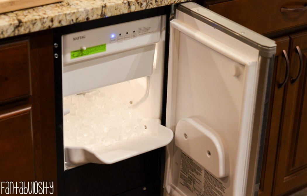 Built In, Under cabinet Ice Maker Built-In, Undercabinet Ice Machine Kitchen Home Design, Home Tour Part 4 fantabulosity.com