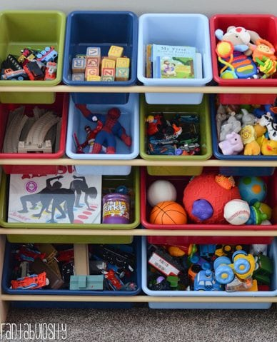 Toy Organizer Playroom design and decor ideas, Part 5 of Home Tour https://fantabulosity.com