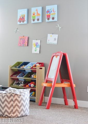 Easel Playroom design and decor ideas, Part 5 of Home Tour https://fantabulosity.com
