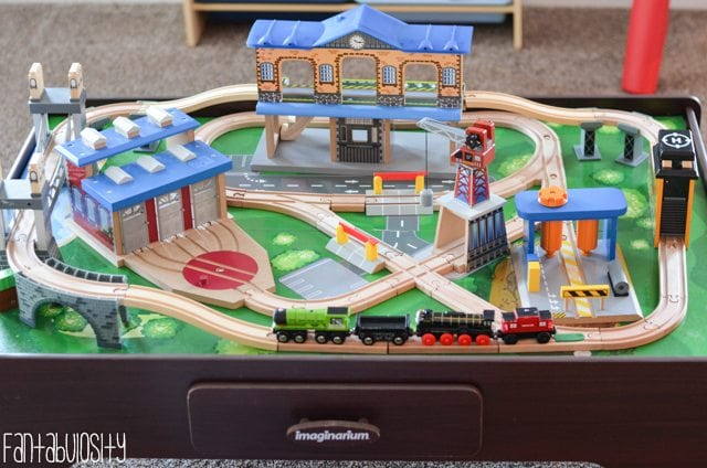 Train Table Playroom design and decor ideas, Part 5 of Home Tour https://fantabulosity.com