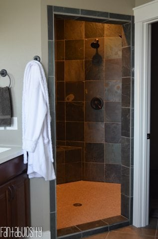 Master Bathroom Decorations and Design, Walk In Shower, Part 3 of Home Tour