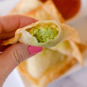 avocado wontons