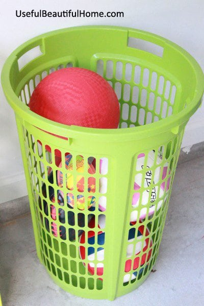 Organize Your Garage, Great storage idea for balls https://fantabulosity.com