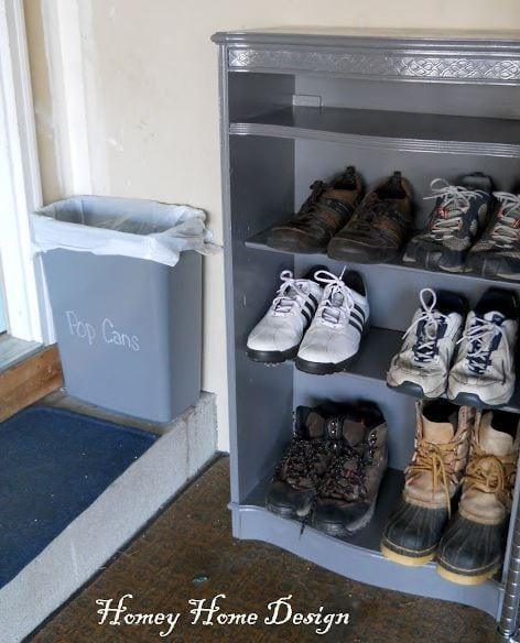 Shoe Organization Idea for Garage https://fantabulosity.com