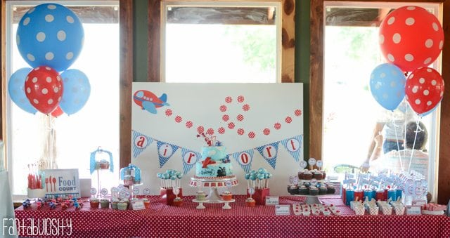 Airplane First Birthday Party Ideas-10