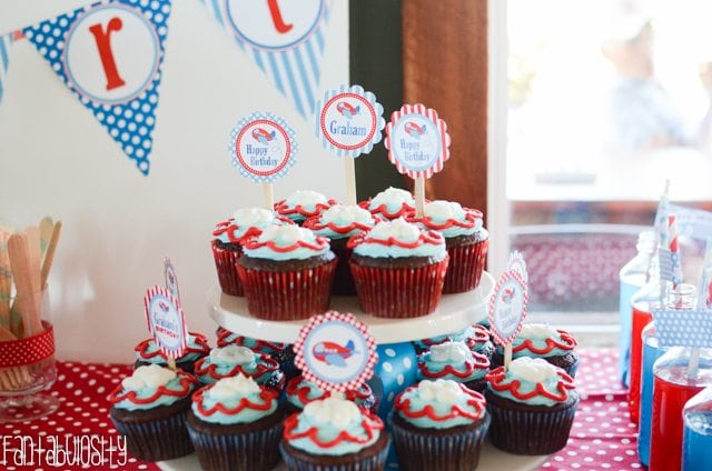 Airplane First Birthday Party Ideas Cupcakes