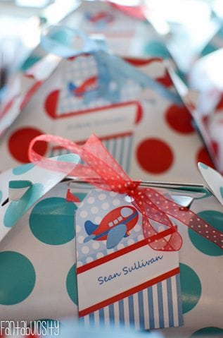 Airplane First Birthday Party Ideas Favors
