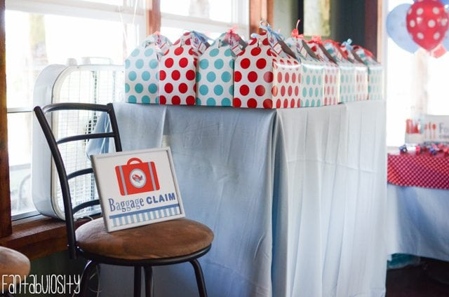 Airplane First Birthday Party Ideas Baggage Claim