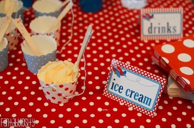 Airplane First Birthday Party Ideas Ice Cream