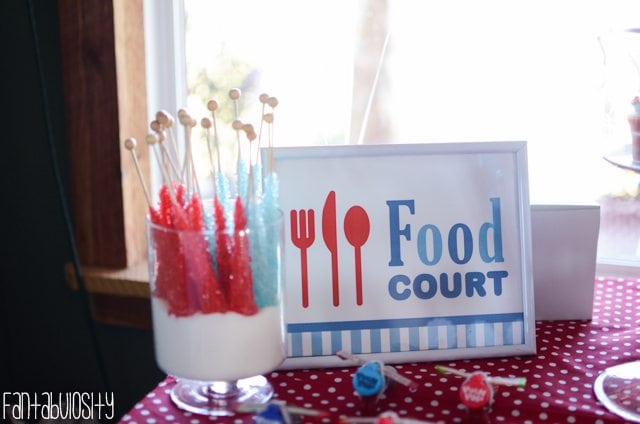 Airplane First Birthday Party Ideas Food Court