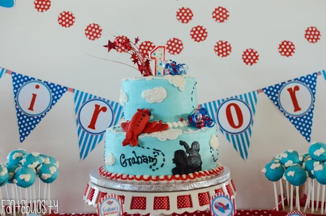 Airplane First Birthday Party Ideas Cake