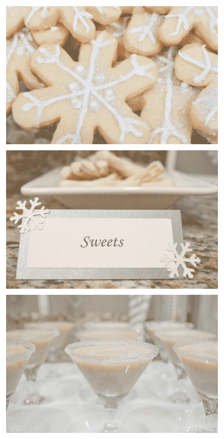 All white christmas party ideas! So classy and so easy to decorate with white!