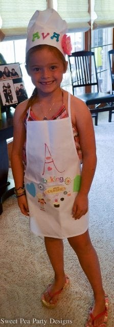 Baking birthday Party Girl Birthday Finished Decorating