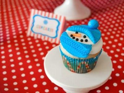 Christmas Play Date Snowmen Theme cupcakes