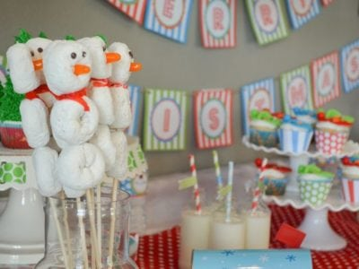 Christmas Play Date Snowmen Theme party for kids