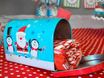 Christmas Play Date Snowmen Theme little mailbox