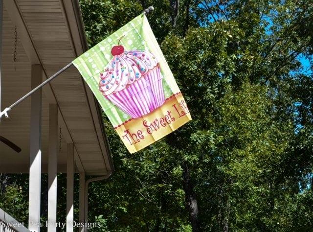 Cupcake Flag Baking birthday party