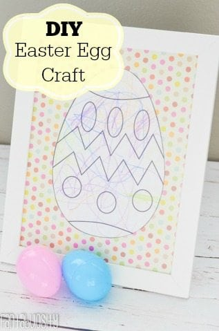 DIY Framed Easter Egg Craft for Kids https://fantabulosity.com