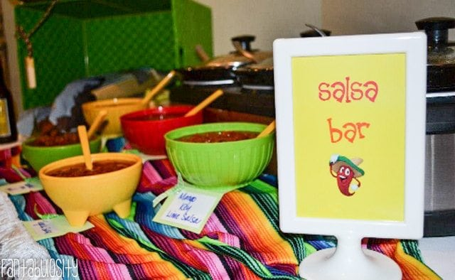 Fiesta Housewarming Party Ideas Variety of Salsas, A Salsa Tasting, and salsa bar