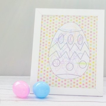 DIY Framed Easter Egg Craft for Kids