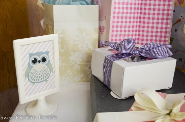 Owl-Baby-Shower Gift Table