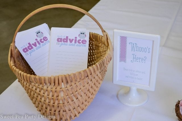Owl-Baby-Shower advice cards