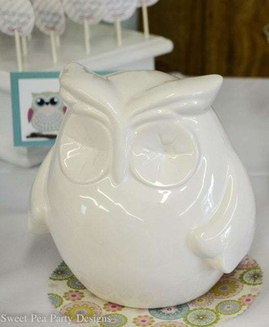 Owl-Baby-Shower-owl statue