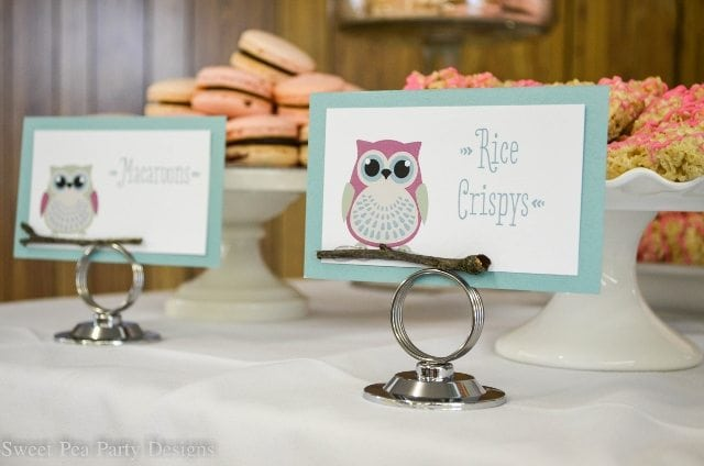 Owl-Baby-Shower rice krispies