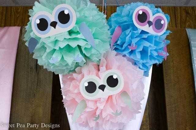 Owl-Baby-Shower-tissue poms