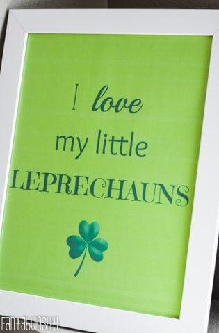 St. Patrick's Day Free Printable -I Love My Little Lephrechauns- https://fantabulosity.com