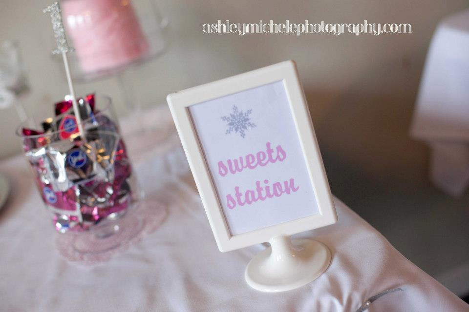 Sweets Station Winter Onederland Girl Birthday Party