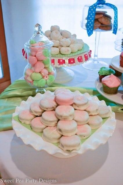 Baking Party, Girl Birthday Party Ideas Cupcake Garland White Chocolate Oreos