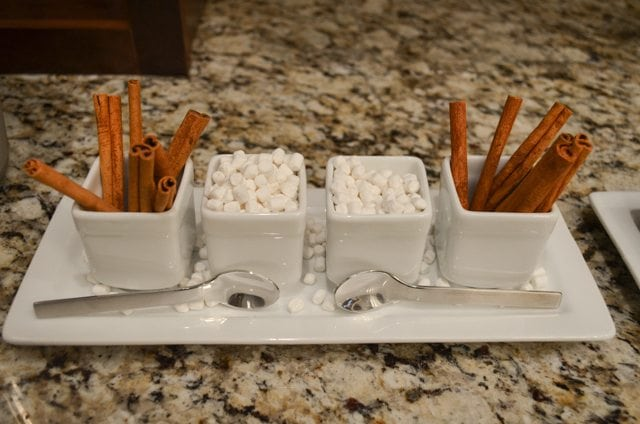 White Christmas Party Ideas- White Hot Chocolate Bar toppings http://fantabulosity.com