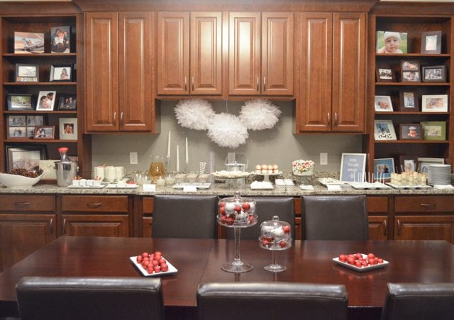 White Christmas Party Ideas Display Table http://fantabulosity.com