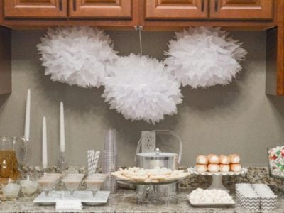 White Christmas Party Ideas Dessert table http://fantabulosity.com