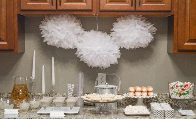 White Christmas Party Ideas Dessert table http://fantabulosity.com